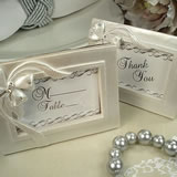 Deluxe Placecard Photo Frame Bow Design