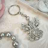 Antique Silver Design Angel Keychain