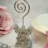 Antique Silver Design Angel Placecard Holder