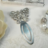 Antique Silver Design Butterfly Bookmark