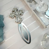 Antique Silver Design Cross Bookmark