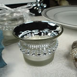 Bling 2-Tone Silver Tealight Candle Holder