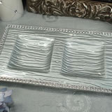 Silver Bling 2 Section Platter