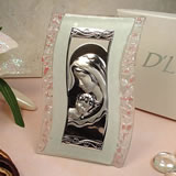Murano Design Pink & White Glass Icon