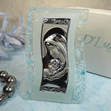 Murano Design Blue & White Glass Icon