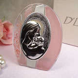 Murano Design Pink & White Oval Glass Icon