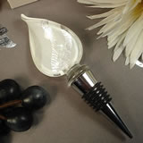 Murano Design Bottle Stopper - White Shimmer