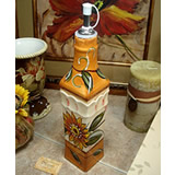 Ceramic Oil Bottle - Sunflower Design