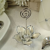Deluxe White Magnolia Place Card Holder
