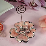 Deluxe Pink Rose Place Card Holder