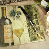Cheese Board with Knife - Tuscan Wine Design