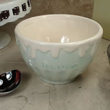 Ceramic Ice Cream Bowl - Green