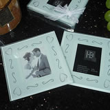 2 Piece Glass Photo Coaster Set - Swirl