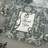 Grey & White Damask Photo Coaster Set