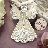 Angel Hanging Ornament - White Epoxy