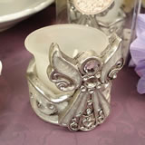 Angel Tealight Candle Holder - White Epoxy