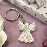 Angel Keychain - White Epoxy