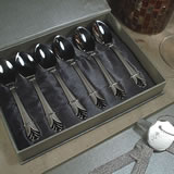 6Pc Stainless Demi Spoons - Florence Design