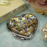 Murano Heart-Shaped Compact - Speckle