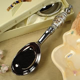 Murano Design Ice Cream Scoop - Black, White & Gold