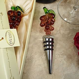 Murano Style Glass Bottle Stopper - Grape