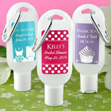 Personalized Hand Sanitizer with Carabiner - Silhouette Collection