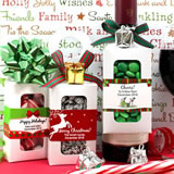 Holiday Bottle Hanger Favor Boxes