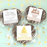 Metallic Foil Gourmet Chocolate Pretzel Favors