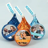Photo Colored Foil Hershey's Kisses Favors