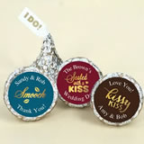 "Personalized Shimmering Love ""I DO"" Plume Hershey's Kisses"