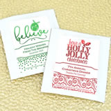 Holiday Metallic Foil Tea Favors