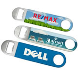 Custom Corporate Vinyl Grip Stainless Steel Paddle Bottle Openers
