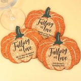 Personalized Pumpkin Cork Coaster