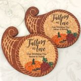 Personalized Cornucopia Cork Coaster
