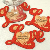 Personalized Love Script Cork Coaster