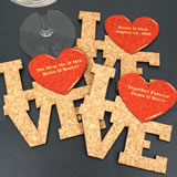 Personalized Love Square Cork Coaster