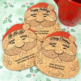 Personalized Santa Claus Cork Coaster