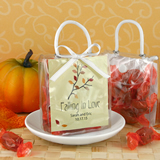 Personalized Mini Gift Tote Favor - Fall