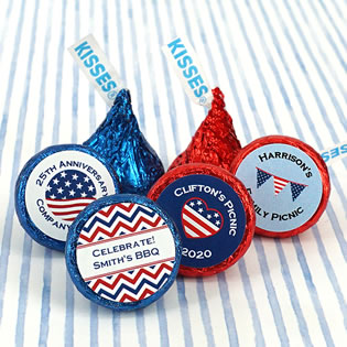 Patriotic Colored Foil Hershey's Kisses
