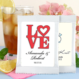 Heart Theme Iced Tea Favors