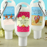 Sunscreen Favors with Carabiner (SPF 30): Beach Designs
