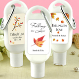 Sunscreen Favors with Carabiner (SPF 30): Fall Designs