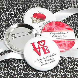 Personalized Wedding Buttons (2.25