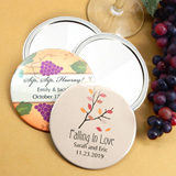 "Personalized Wedding Mirrors (2.25"")  - Fall Designs"