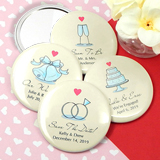 "Personalized Wedding Mirrors (2.25"") - Heart Designs"