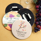 "Personalized Wedding Bottle Opener (2.25"") - Fall Designs"