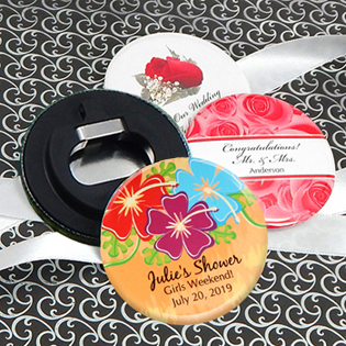 Personalized Wedding Bottle Opener - Floral Designs