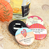 "Personalized Wedding Bottle Opener (2.25"") - Beach Designs"