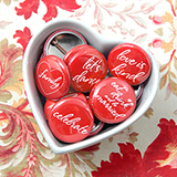 """Conversation"" Wedding Buttons (Set of 35) - 21 Colors Options"
