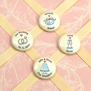 Personalized Wedding Magnets (1